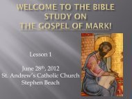 The Gospel of Mark - St. Andrew Catholic Church