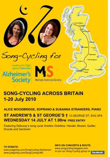 SONG-CYCLING ACROSS BRITAIN 1-20 July 2010 - St Andrew's ...