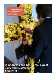 St Andrew's and St George's West Diary and Newsletter April 2011