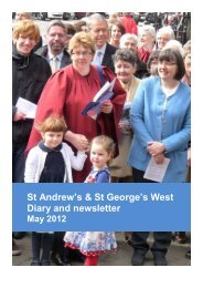 St Andrew's & St George's West Diary and newsletter