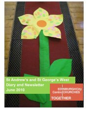 St Andrew's and St George's West Diary and Newsletter June 2010