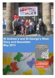 St Andrew's and St George's West Diary and Newsletter May 2013