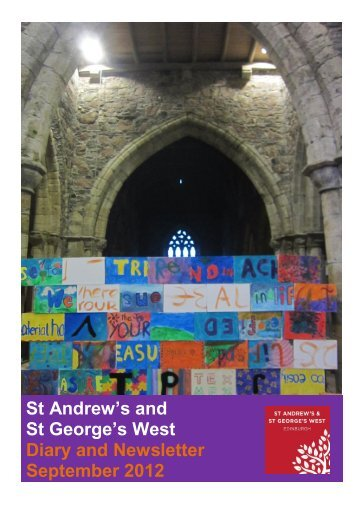 St Andrew's and St George's West Diary and Newsletter September ...