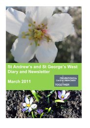St Andrew's and St George's West Diary and Newsletter March 2011