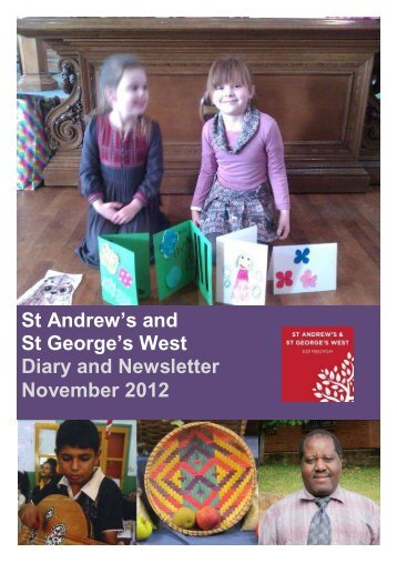 St Andrew's and St George's West Diary and Newsletter November ...