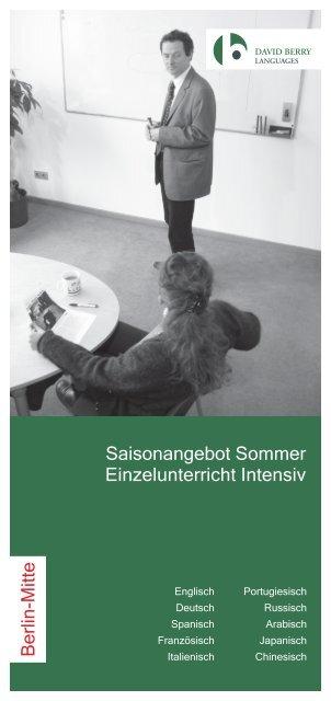 Berlin-Mitte Saisonangebot Sommer ... - David Berry Languages