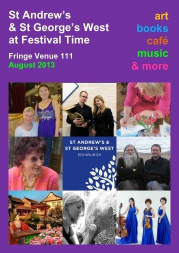 Fringe 2013 (PDF) - St Andrew's and St George's