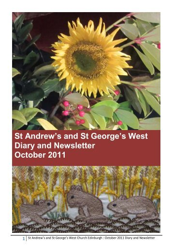 St Andrew's and St George's West Diary and Newsletter October 2011