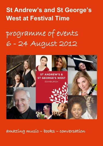 programme of events 6 - 24 August 2012 - St Andrew's & St George's