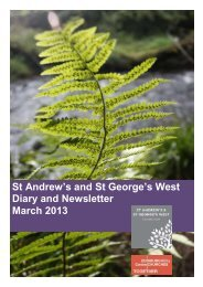 St Andrew's and St George's West Diary and Newsletter March 2013