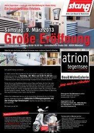 Große Eröffnung Samstag, 9. März 2013 - Stang