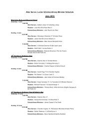 Altar Server, Lector & Eucharistic Minister Schedule