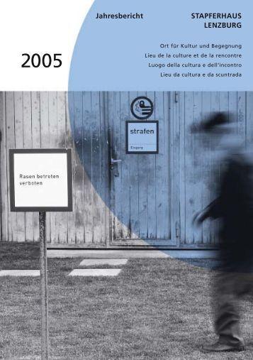 Jahresbericht STAPFERHAUS LENZBURG