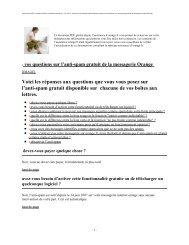 vos questions sur l'anti-spam gratuit de la messagerie Orange