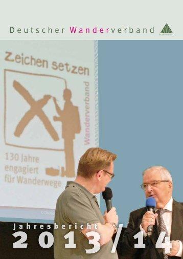 Deutscher Wanderverband - Jahresbericht 2013/14