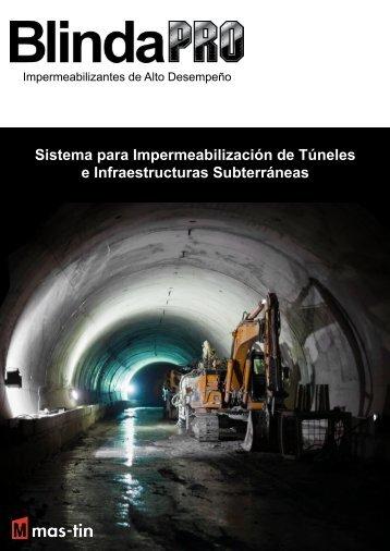 Sistema para Impermeabilización de Túneles e Infraestructuras Subterráneas