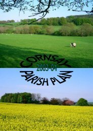 Cornsay Parish Plan - Parish and Town Council Websites - Durham ...