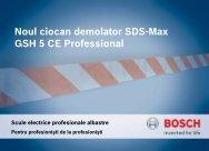Noul ciocan demolator SDS-Max GSH 5 CE Professional - BrioBit