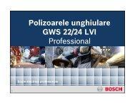 Polizoarele unghiulare GWS 22/24 LVI Professional - BrioBit