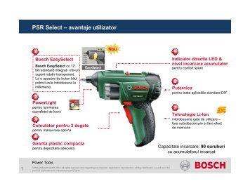 PSR Select – avantaje utilizator - BrioBit