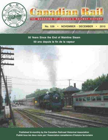 Canadian Rail_no539_2010 - Le musée ferroviaire canadien