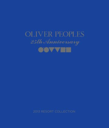 Book 25th anniversary Oliver Peoples - Luxottica