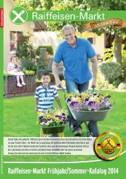 Raiffeisen-Markt Frühjahr/Sommer-Katalog 2014