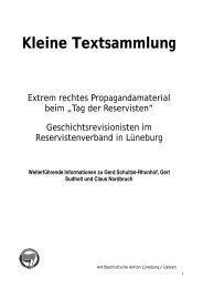 Gerd Schultze-Rhonhof - Antifaschistische Aktion Lüneburg/Uelzen