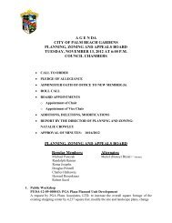November 13, 2012 - City of Palm Beach Gardens
