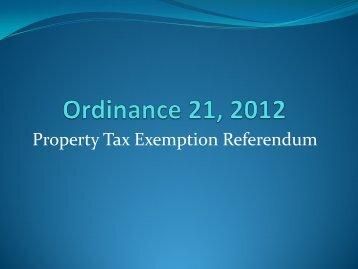Ordinance 21 PowerPoint presentation - City of Palm Beach Gardens