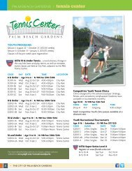PALM BEACH GARDENS 1 tennis center - City of Palm Beach ...