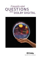 Frequently asked QUESTIONS about DOLBY DIGITAL