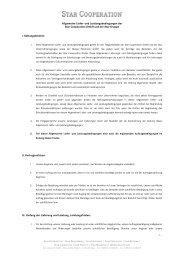 Allgemeine Liefer- und Leistungsbedingungen der Star Cooperation ...