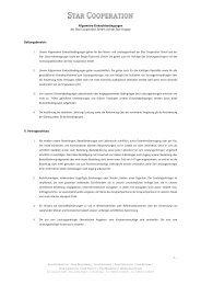 Allgemeine Einkaufsbedingungen der Star Cooperation GmbH und ...