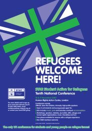 STAR TEN LEAFLET - Student Action for Refugees