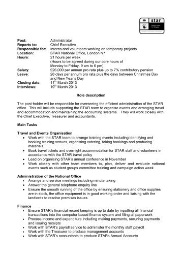 Systems Administrator Job Description And Person Specification