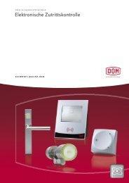 Elektronische Zutrittskontrolle - DOM Sicherheitstechnik