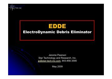 ElectroDynamic Debris Eliminator - Star Technology and Research