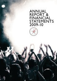 AnnuAl RepoRt & FinAnciAl StAtementS 2009-10 - STAR