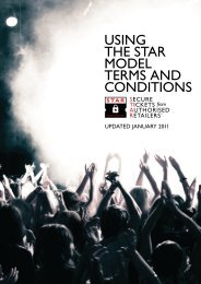 USING THE STAR MODEL TERMS AND CONDITIONS