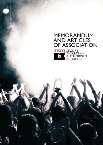 MEMORANDUM AND ARTICLES OF ASSOCIATION - STAR