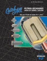 filtros secadores linea de succion