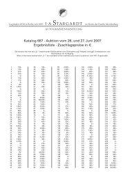 Katalog 687 · Auktion vom 26. und 27. Juni 2007 ... - J.A. Stargardt