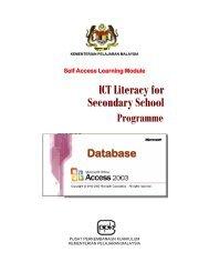 ICT Literacy for Secondary School - Kementerian Pelajaran Malaysia
