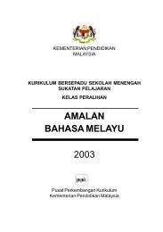 AMALAN BAHASA MELAYU 2003 - Kementerian Pelajaran Malaysia