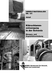 Klärschlammentsorgung in der Schweiz - BAFU - admin.ch