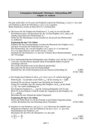 2007-1 Leistungskurs Mathematik (Thüringen ... - STARK Verlag