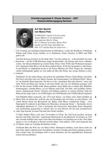 2007-1 Orientierungsarbeit 8. Klasse Deutsch ... - STARK Verlag