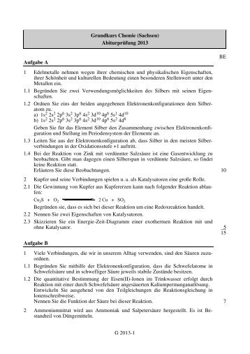 G 2013-1 Grundkurs Chemie (Sachsen ... - STARK Verlag