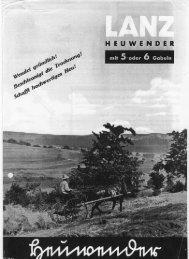 Lanz Heuwender mit 5 und 6 Gabeln - Starke Pferde